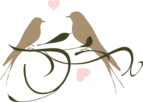 Love birds clip art. Bird clipart wedding