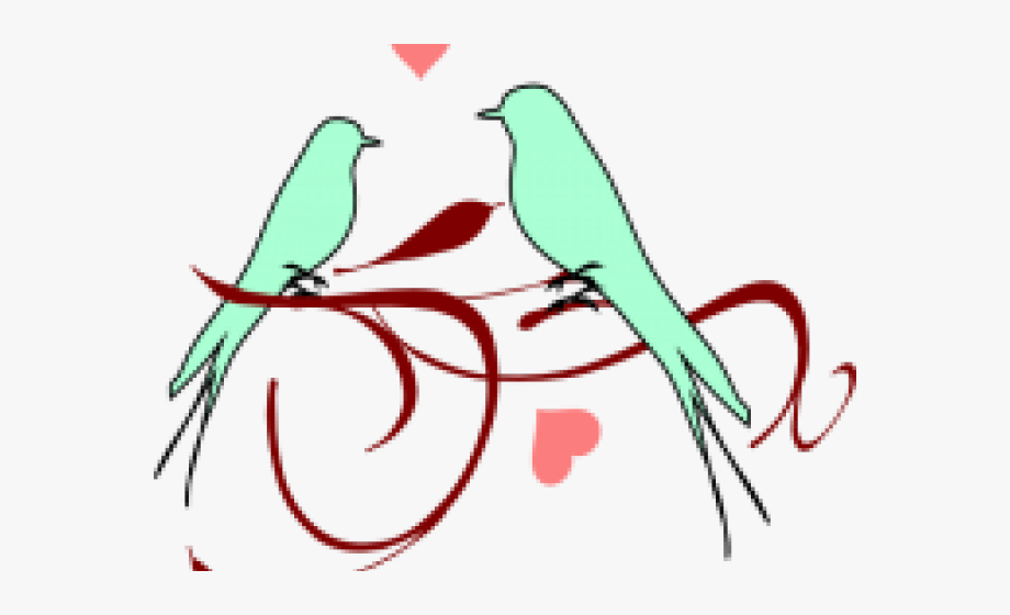 Love clip art free. Bird clipart wedding