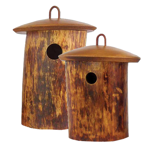 Bird house png. Natural wood birdhouse scattering