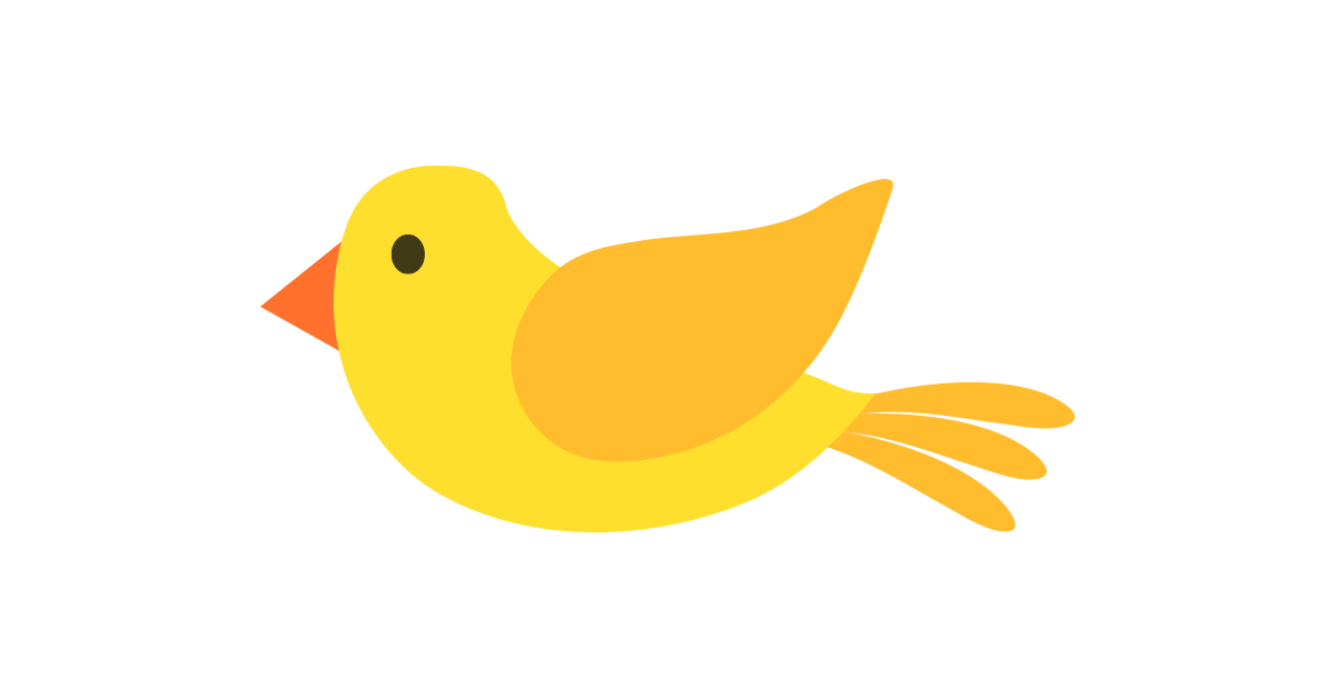 Yellow illustration and free. Bird vector png
