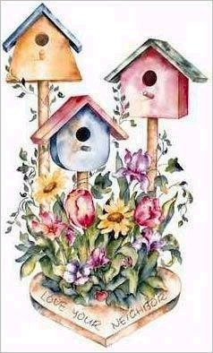 best birds house. Birdhouse clipart abstract