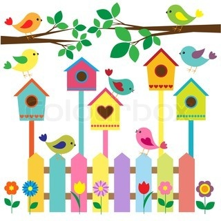 Birdhouse clipart abstract.  best spring images
