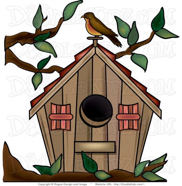 Birdhouse clipart abstract. Cute bird houses for