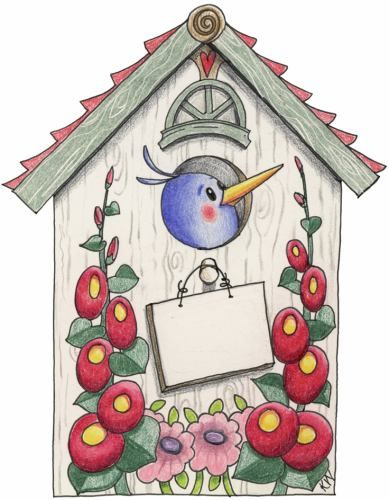 best canvas paintings. Birdhouse clipart abstract