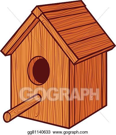 Birdhouse clipart bird box. Eps illustration house vector