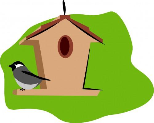 Birdhouse clipart bird box. Earth day craft diy
