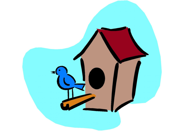 Nesting boxes for birds. Birdhouse clipart bird box