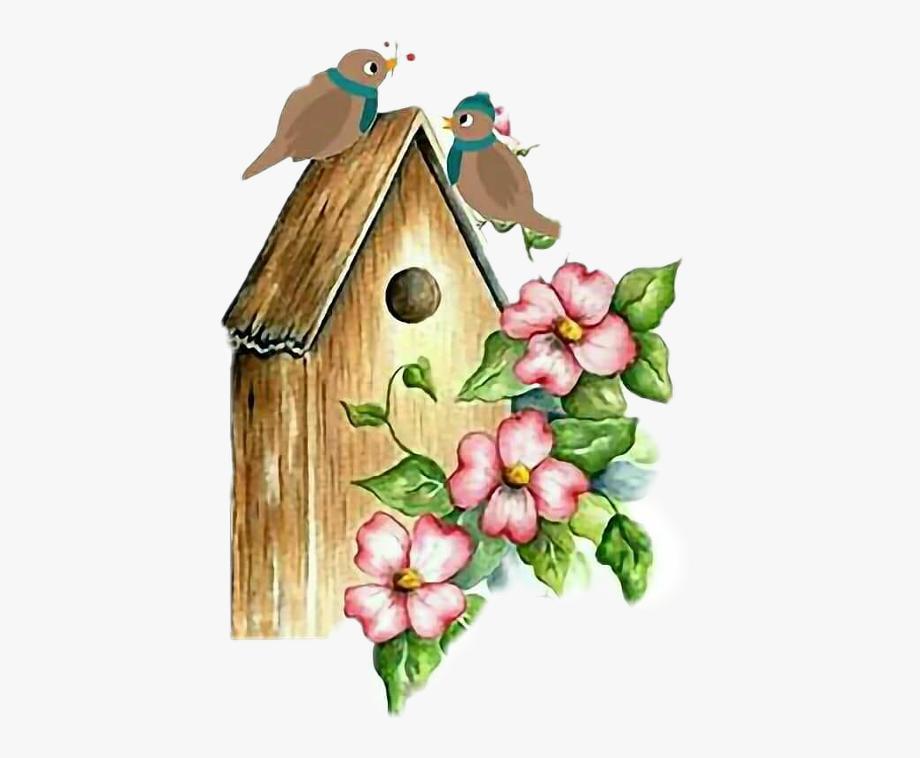 Birdhouse clipart bird box. Watercolor house free cliparts