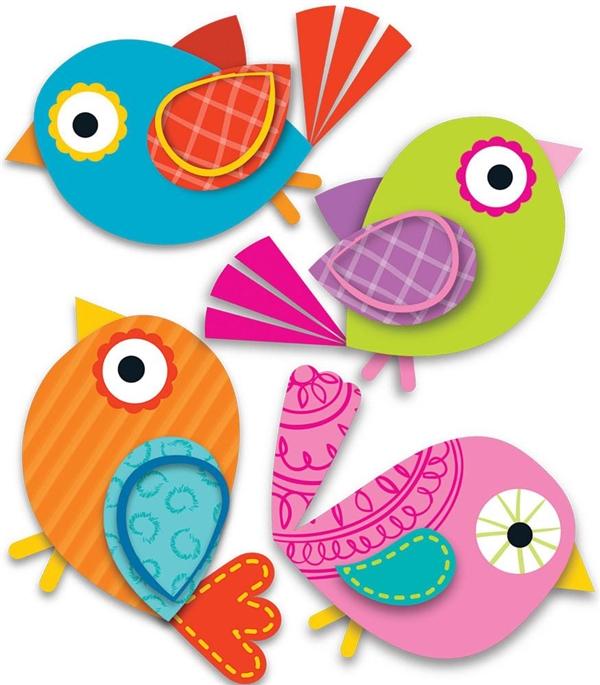 Birdhouse clipart boho bird. Birds mini cut outs