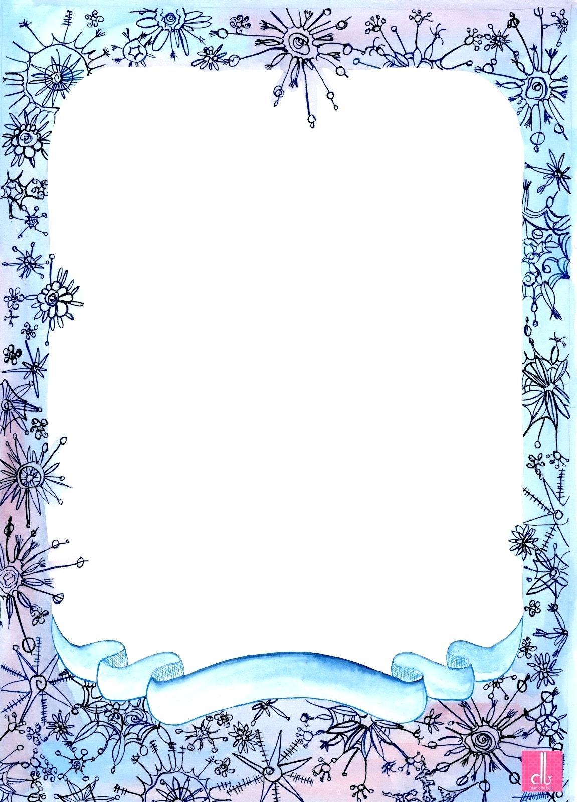 Printable borders and frames. Birdhouse clipart border
