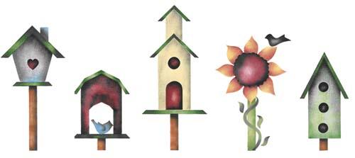birdhouse clipart border