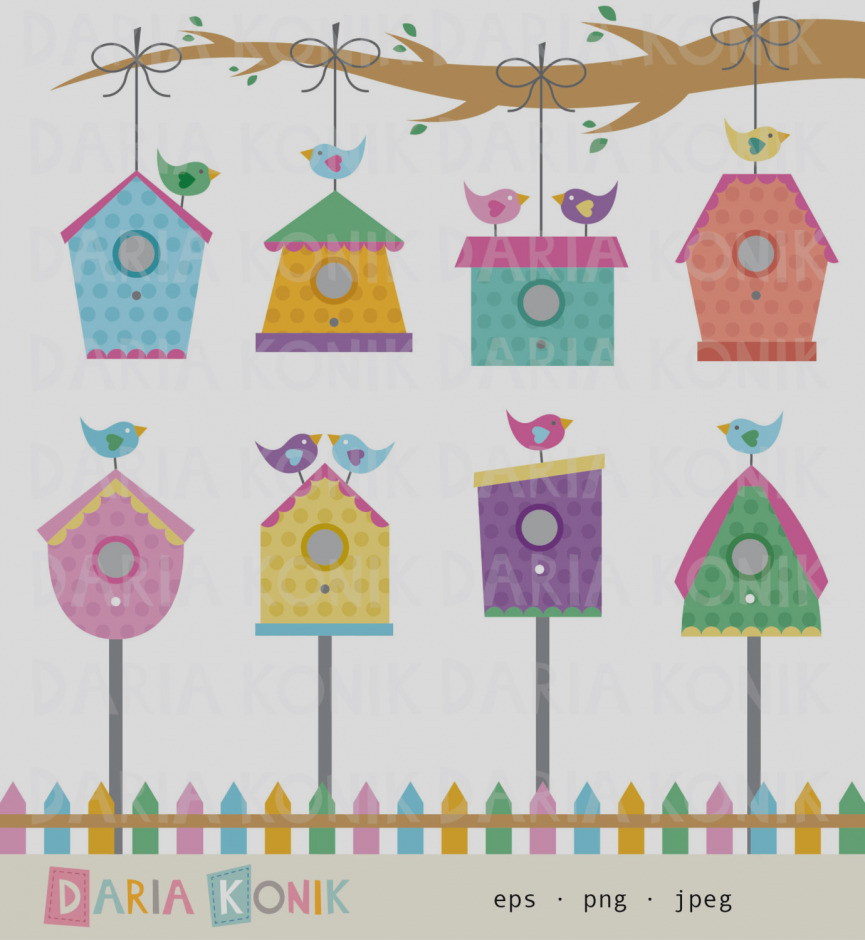 Birdhouse clipart border. Inspirational of free download