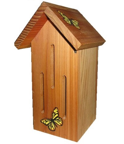 Birdhouse clipart butterfly house. Natural cedar beautiful haven