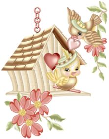 Birds and clip art. Birdhouse clipart cartoon