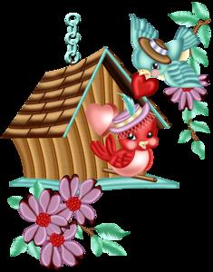 Birdhouse clipart cartoon. Pin by kimberly harris