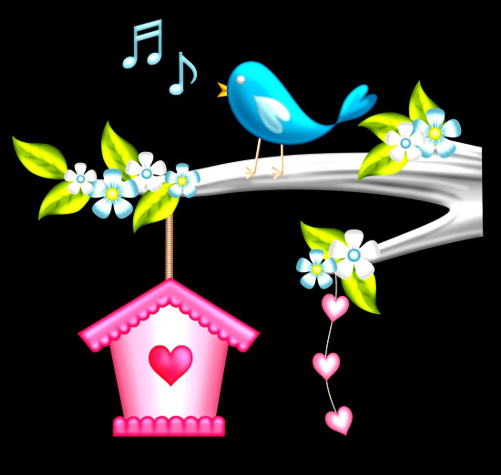 Ftestickers bird cute colorfu. Birdhouse clipart cartoon