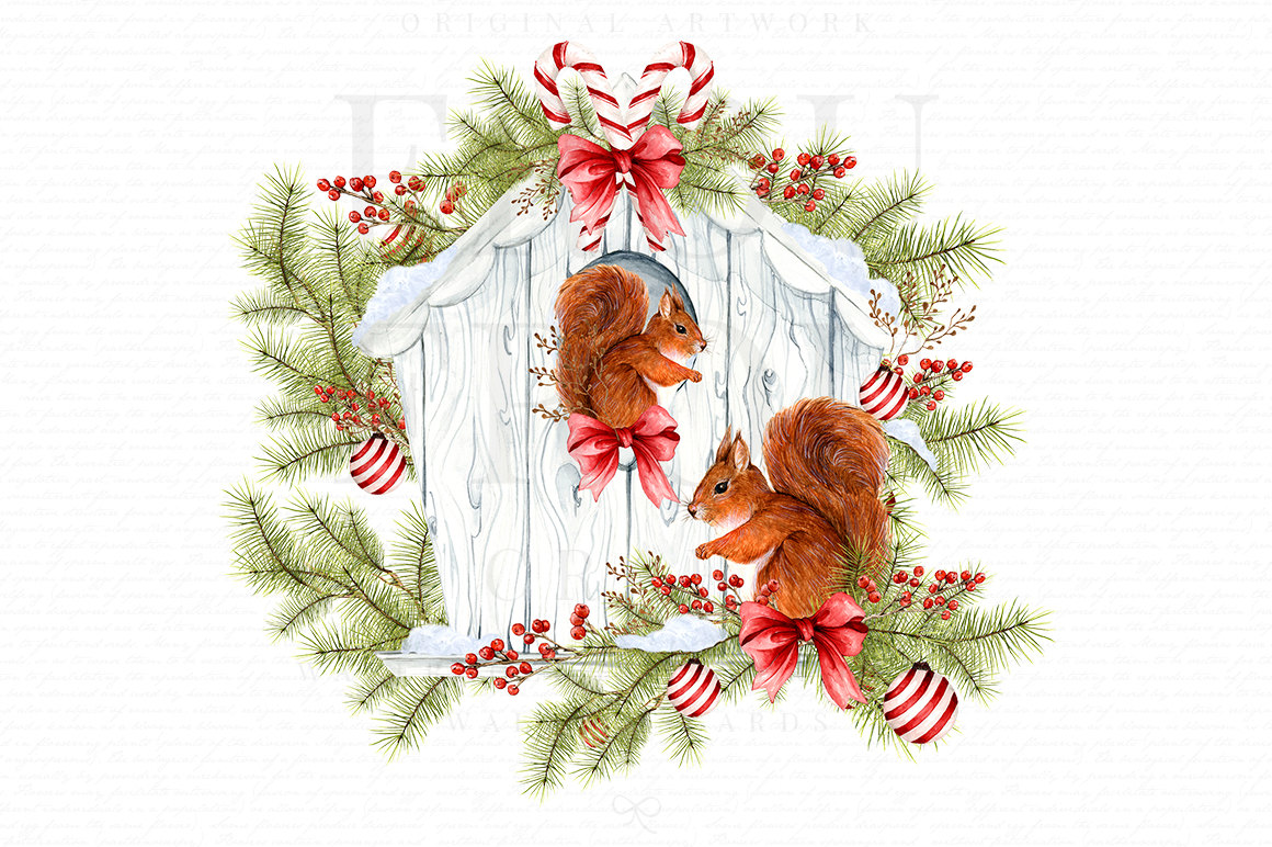 Clip art xmas graphics. Birdhouse clipart christmas