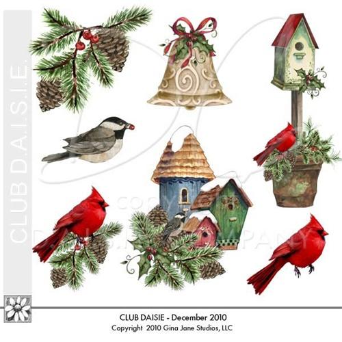Birdhouse clipart christmas. Daisie company digital art
