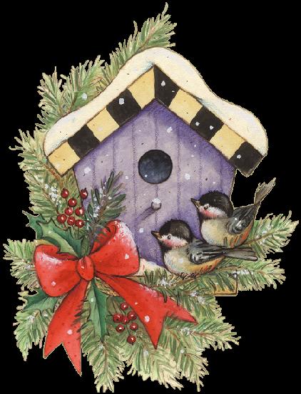 Birds and pinterest bird. Birdhouse clipart christmas