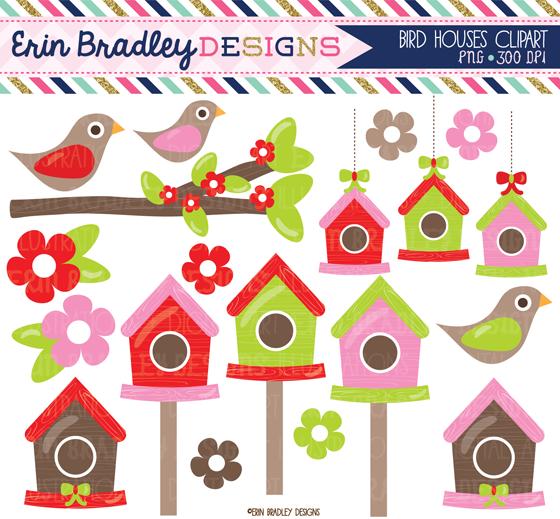 Erin bradley designs new. Birdhouse clipart christmas