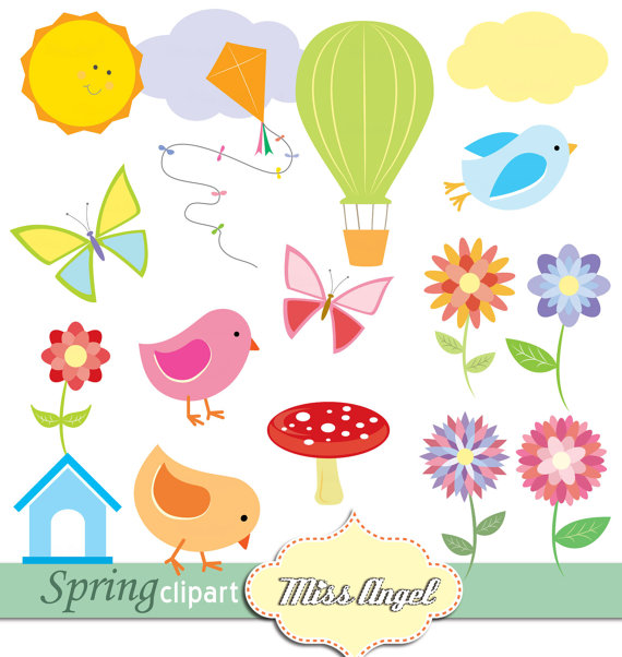 Birdhouse clipart colorful. Spring flowers butterflies hot