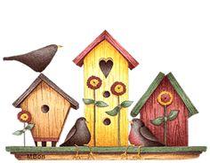 Birdhouse clipart country. Foltos ny l soma