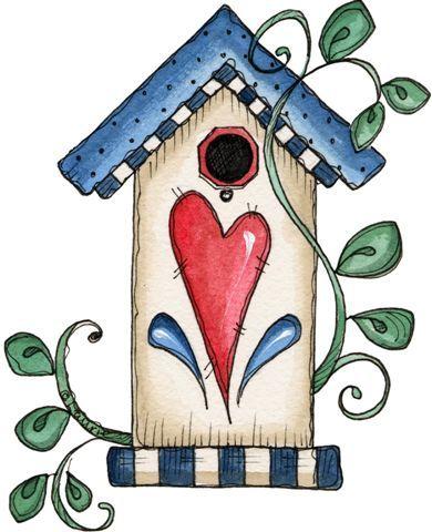 best clip art. Birdhouse clipart country