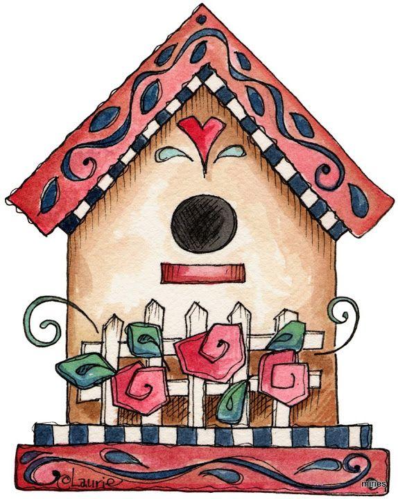 Birdhouse clipart country. Row miriam sosa picasa