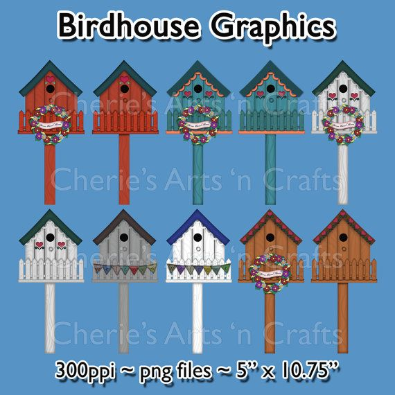 birdhouse clipart craft