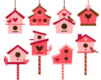 Bird house etsy love. Birdhouse clipart craft