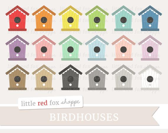 Bird house clip art. Birdhouse clipart cute