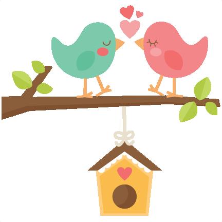 Birdhouse clipart home. Birds with svg scrapbook