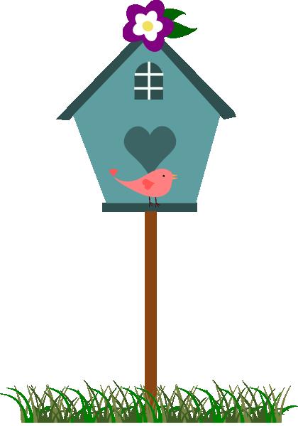 Birdhouse clipart home. Garden