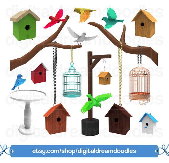 Bird clip art house. Birdhouse clipart home