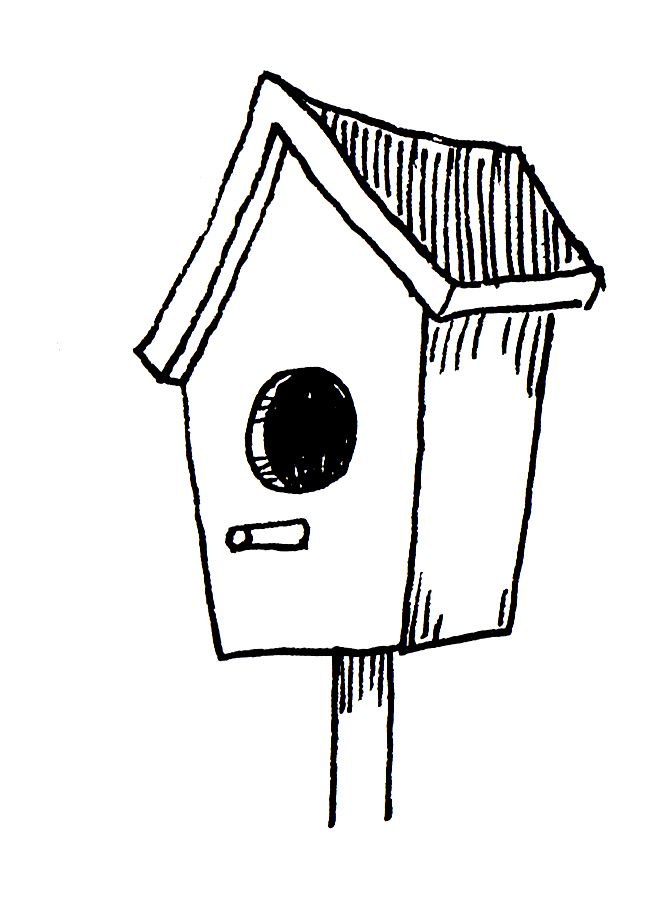 Birdhouse clipart outline. Download for free png