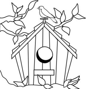birdhouse clipart outline