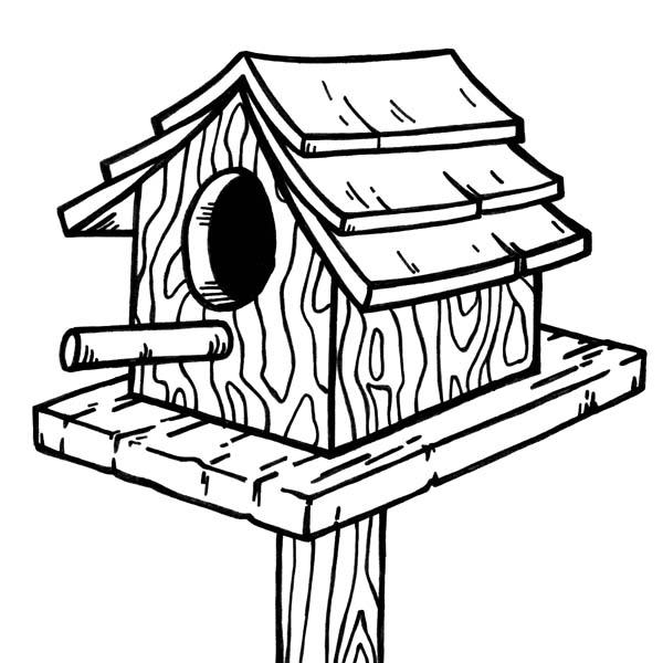 House drawing clip art. Birdhouse clipart outline