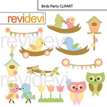 Clip art birds party. Birdhouse clipart owl