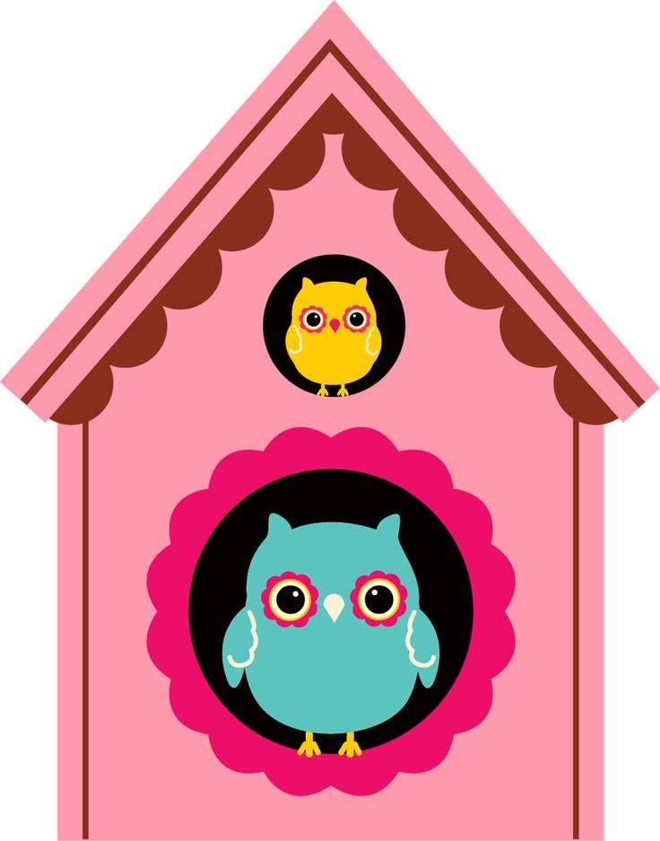 Birdhouse clipart owl.  best buhitos images