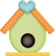 birdhouse clipart painted