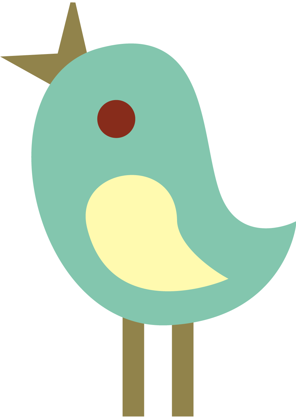 Cute tweet birds clip. Nest clipart 4 bird