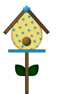 Free bird and flower. Birdhouse clipart pigeon house
