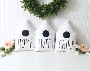 Rae dunn chirp etsy. Birdhouse clipart pigeon house