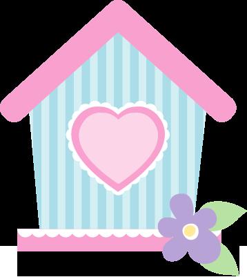 Http daniellemoraesfalcao minus com. Birdhouse clipart pink