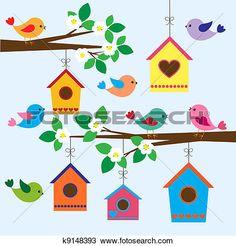 Clip art cute whimsical. Birdhouse clipart plain