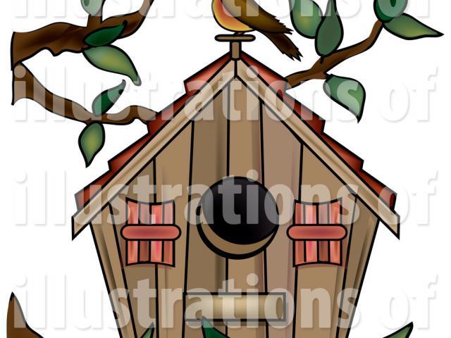 Pictures free download clip. Birdhouse clipart plain