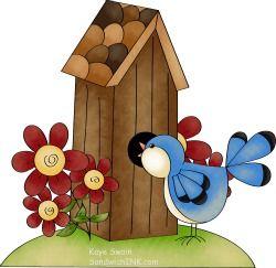 And bird clip art. Birdhouse clipart primitive