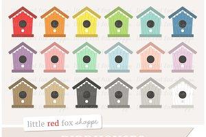 Birdhouse clipart printable. Illustrations creative market