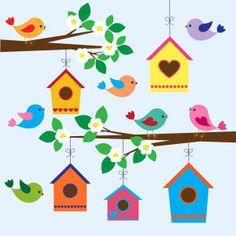 birdhouse clipart printable
