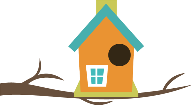 Nice coloring pages for. Birdhouse clipart printable